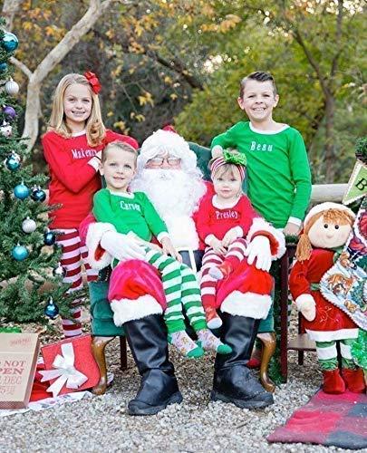 Personalized Matching Family Christmas Pajamas for family, Family Christmas Pajama Set, Kids Personalized Christmas Pajamas, Adult Christmas Pajamas Striped, Monogrammed Christmas Pajamas]()