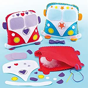 Kits de costura de cojines con forma de autocaravana - Pack de 2