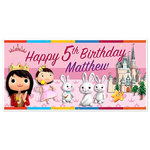 Little Baby Bum Princess Birthday Banner Party Decoration Backdrop