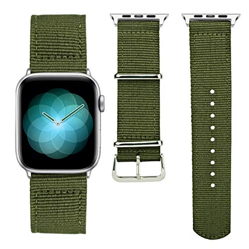 YOUKEX Apple Watch Band 42mm 44mm 38mm 40mm Nylon Woven Strap Lightweight for Series 4 3 2 1