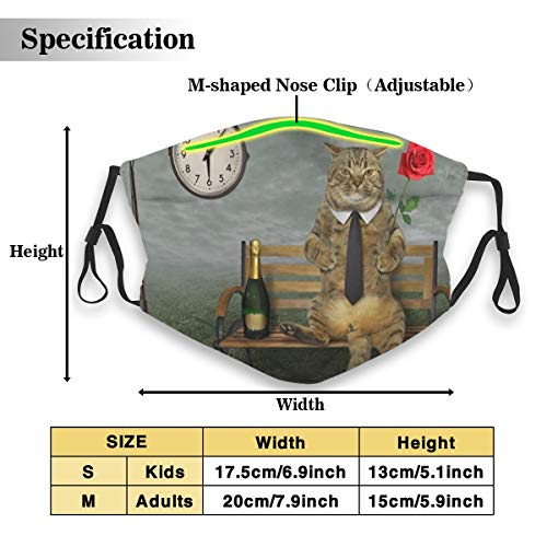 Dust Mask Cat Wine Anti-dust Mouth Masks Respirator Reusable Cotton Breathable Safety Dust-proof Half Face Mask for Kids Boys Girls Running Cycling Travel Outdoor
