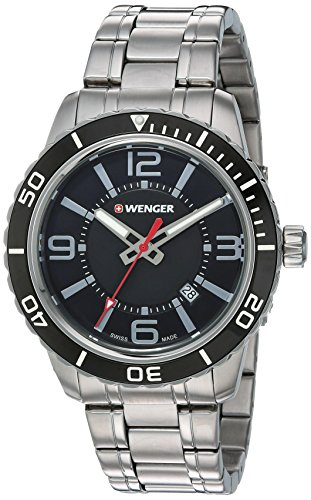 Wenger-Mens-Roadster-Swiss-Quartz-Stainless-Steel-Casual-Watch-ColorSilver-Toned-Model-010851118