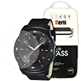 Rerii LG G Watch R W110 Tempered Glass Screen Protector, 9H Hardness 0.3mm Thickness REAL Tempered Glass, Shatterproof, High Definition Clear Tempered Glass