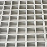 Eco Pultrusions FRP Molded Grating 4 FTx8 FTx1 Inch Gray