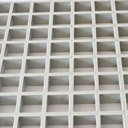 Eco Pultrusions FRP Molded Grating 4 FTx8 FTx1 Inch Gray by Eco Pultrusions