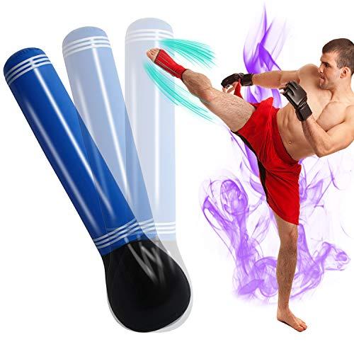 SUNSHINEMALL Inflatable Punching Tower Bag Boxing Column Tumbler Sandbags Fitness/Training/Fun Activity, Boxing Target…