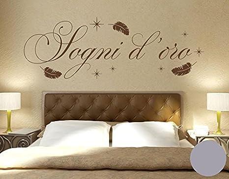 Parete Doro : Adesivo da parete sogni d oro argento 180cm x 62cm: amazon.it