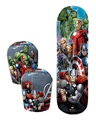 Hedstrom Avengers Assemble Bop Bag and Gloves Combo Set, 36 Inch