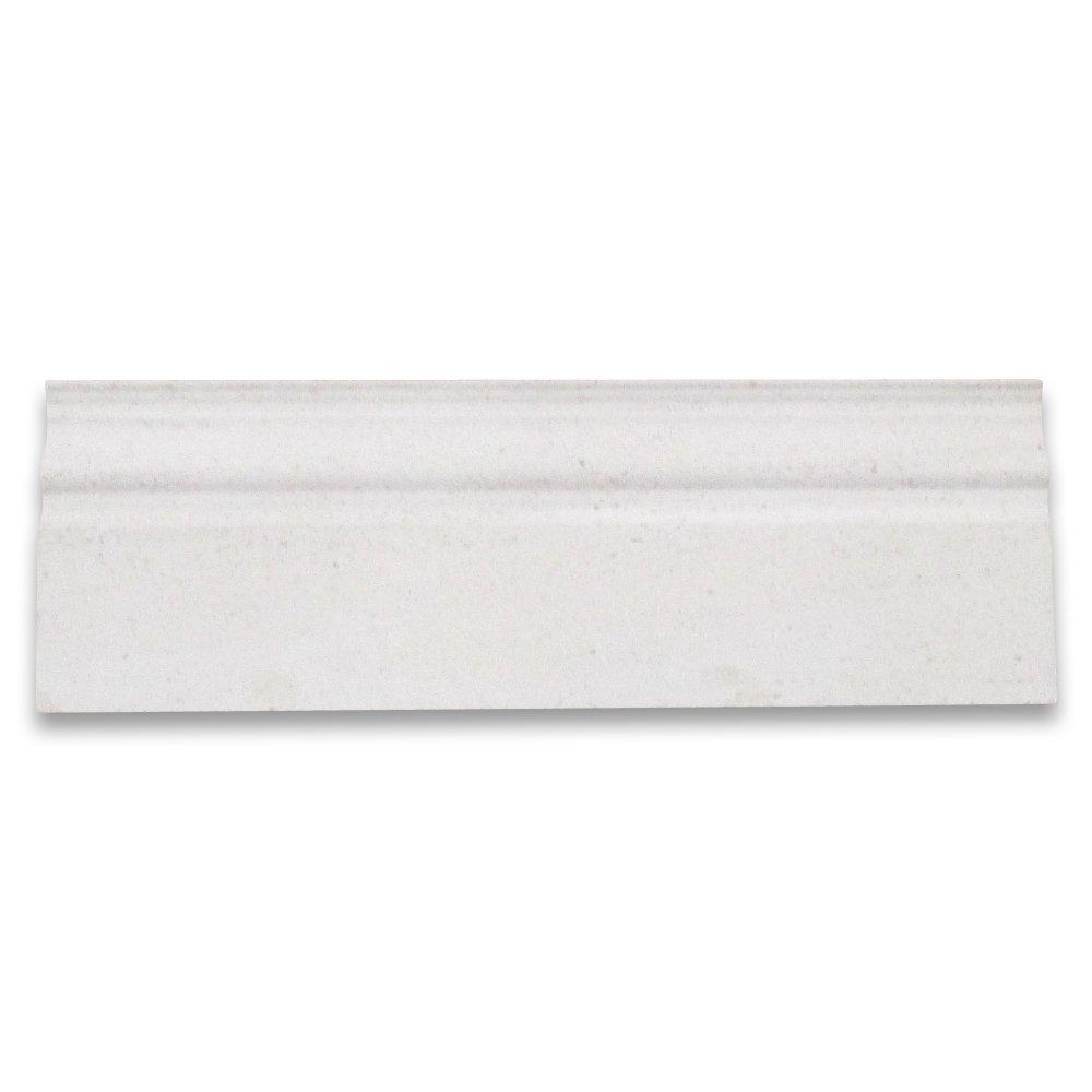 Moleanos Beige Limestone 4x12 Baseboard Crown Molding Honed