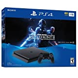 PlayStation 4 Slim 1TB Console 2 items Bundle: PS4 Slim - Star Wars Battlefront II Bundle and Sony PlayStation 4 Dualshock 4 Wireless Controller Wave Blue