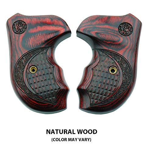 Altamont - S&W J Round Revolver Grips - Bateleur - Real Wood Gun Grips fit  Smith & Wesson J Frame Round Butt  38 Special and 9mm Revolvers - Made in