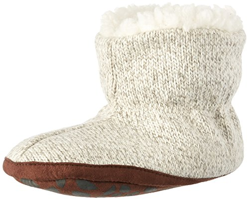 Acorn Kids' Easy Bootie Ragg Slipper, Grey Wool, XX-Large