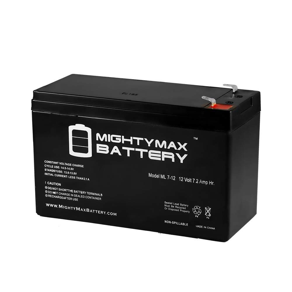 12V 7.2AH Sealed Lead Acid Battery for Unikor VT1207 - Mighty Max Battery brand product