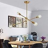 Jiuzhuo Modern Luxurious Style Gold Metal Ceiling Light Adjustable Branch 4-Light/6-Light Pendant Light (4-Light)