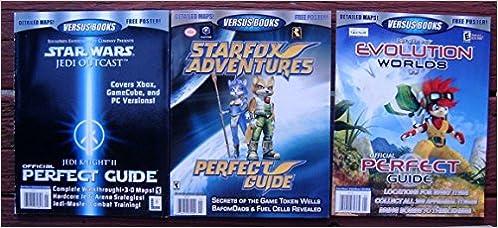 3x VERSUS BOOKS STAR WARS Jedi Knight II & STARFOX