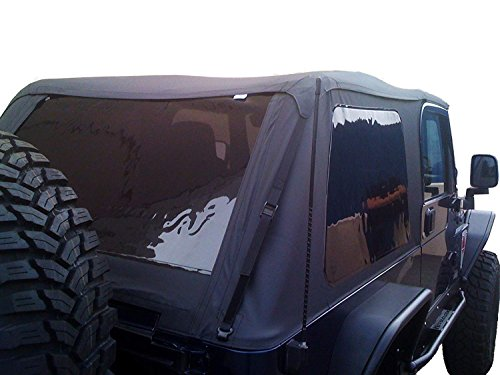Jeep Top Wrangler 01 (RAMPAGE PRODUCTS 109535 Frameless Trail Top for 1997-2006 Jeep Wrangler TJ, Black Diamond w/Tinted Windows)