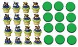 24 Teenage Mutant Ninja Turtles Cupcake Decoration Rings, Health Care Stuffs