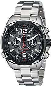 Bulova Men's 98B227 Precisionist Analog Display Japanese Quartz Silver Watch