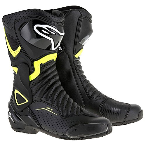 Alpinestars SMX-6 V2 Vented Mens Motorcycle Boots - Black/Yellow - 44