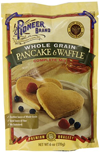 Pioneer Brand Whole Grain Pancake Mix, 6 Ounce (Pack of 12)