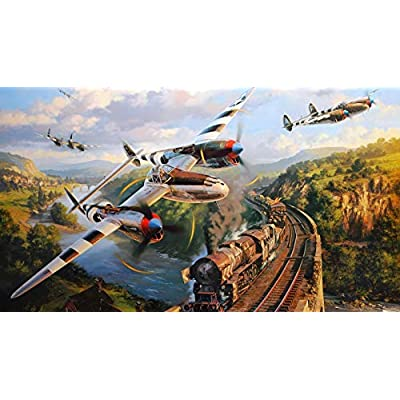 Wooden Jigsaw Puzzle 1000 PCS Airplane and Steam Train Large Size 1000 Pieces of Wooden Puzzle,Unique Home Decorations and Gifts: Toys & Games