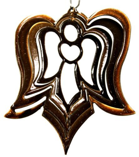 """Stainless Steel Wind Spinner, 3"""" Itsy Bitsy Angel Copper Starlight"""