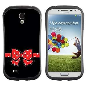 "Hypernova Slim Fit Dual Barniz Protector Caso Case Funda Para SAMSUNG Galaxy S4 IV / i9500 / i9515 / i9505G / SGH-i337 [Ratón rojo del empuje Dot Negro minimalista""]"