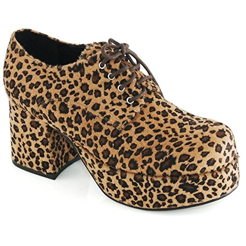 Pimp Adult Costume Shoes Leopard Print -