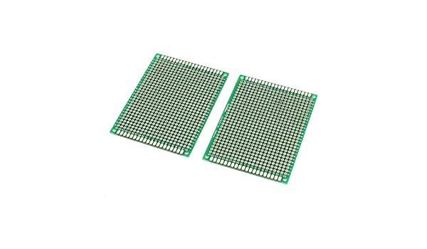 2pcs de Doble cara FR-4 60mmx80mm placa de circuito impreso PCB Universal: Amazon.com: Industrial & Scientific