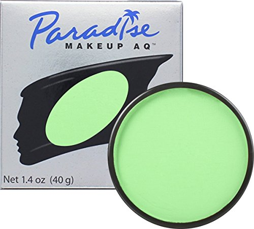 Mehron Makeup Paradise AQ Face & Body Paint, LIGHT GREEN: Pastel Series – 40gm