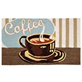 Homefires Accents Coffee Shop Indoor Rug, 22-Inch by 34-Inch