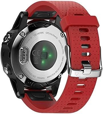 BarRan Fenix 6S,Fenix 6S Pro,Fenix 5S,Fenix 5S Plus Correa, Correa de Banda de Reloj de Repuesto de Silicona Suave para Garmin Fenix 5S, Fenix 5S Plus ...