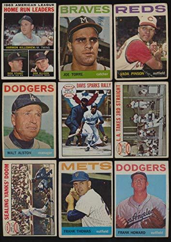 1964 Topps Baseball G avg lot of 312 diff cards low grade BV 1984 - 1964 Baseball Topps