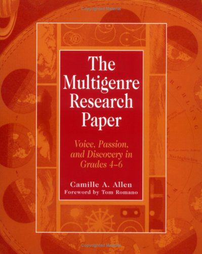 genre multi paper research A brief list of genres: journal entries personal letter greeting card schedule/things to do list inner monologue representing internal conflicts.