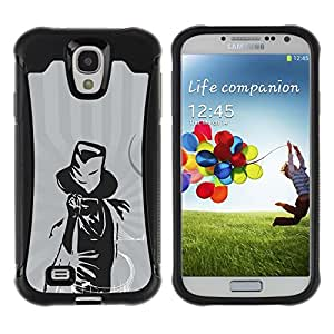 iArmor Hybrid Anti-Shock Defend Case / Cool Music Magic Musician Notes / Samsung Galaxy S4