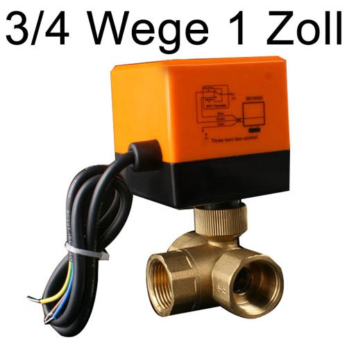 Super Golden Tulip®]3 Wege 3/4 Zoll DN20 Zonenventil Kugelventil Ventil  GL21