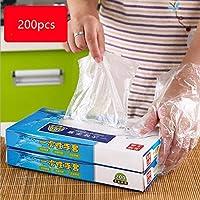 Disposable Gloves Food Grade Catering PE Film Transparent Gloves 200pcs