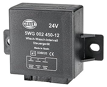HELLA 5WG 002 450-121 Relé, intervalo del limpiaparabrisas, 24V, con soporte: Amazon.es: Coche y moto