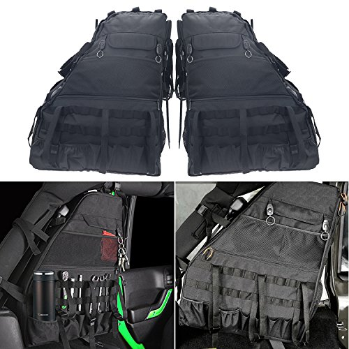 Bentolin Roll Bar Storage Bag Cage with Multi-Pockets & Organizers & Cargo Bag Tool Kits Holder for 2007~2019 Jeep Wrangler JK Rubicon 4-Door - Pack of -