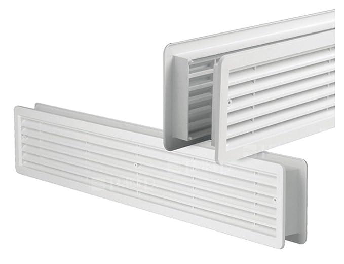 Rejilla de ventilación para puerta - Rejilla de ventilación - Rejilla de ventilación para puerta - Puerta Rejilla - Color Blanco - Doble cara opaca de 500 x ...