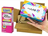 myLAB Box Home STD Test Bundle - Chlamydia/Gonorrhea/HIV/Trich Mail-In Test Kits (FEMALE, Fast Lab-Certified Results) + First Response Early Result Pregnancy Test (3 tests)