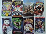 Kids and Children 8 Pack VHS Movies, Pokemon, the First Move: Mew Two Mew, Pokemon 2000, Richie Rich: Macaulay Culkin, Edward Herrmann, John Larroquette, Richie Richs: Christmas Wish: David Gallagher, Eugene Levy, Keene Curtis, Jack Frost with Michael Keaton, Batman Beyond: Return of the Joker, Tom & Jerry: The Magic Ring, Willy Wonka & the Chocolate Factorystarring Gene Wilder, Jack Albertson, Peter Ostrum and Roy Kinnear