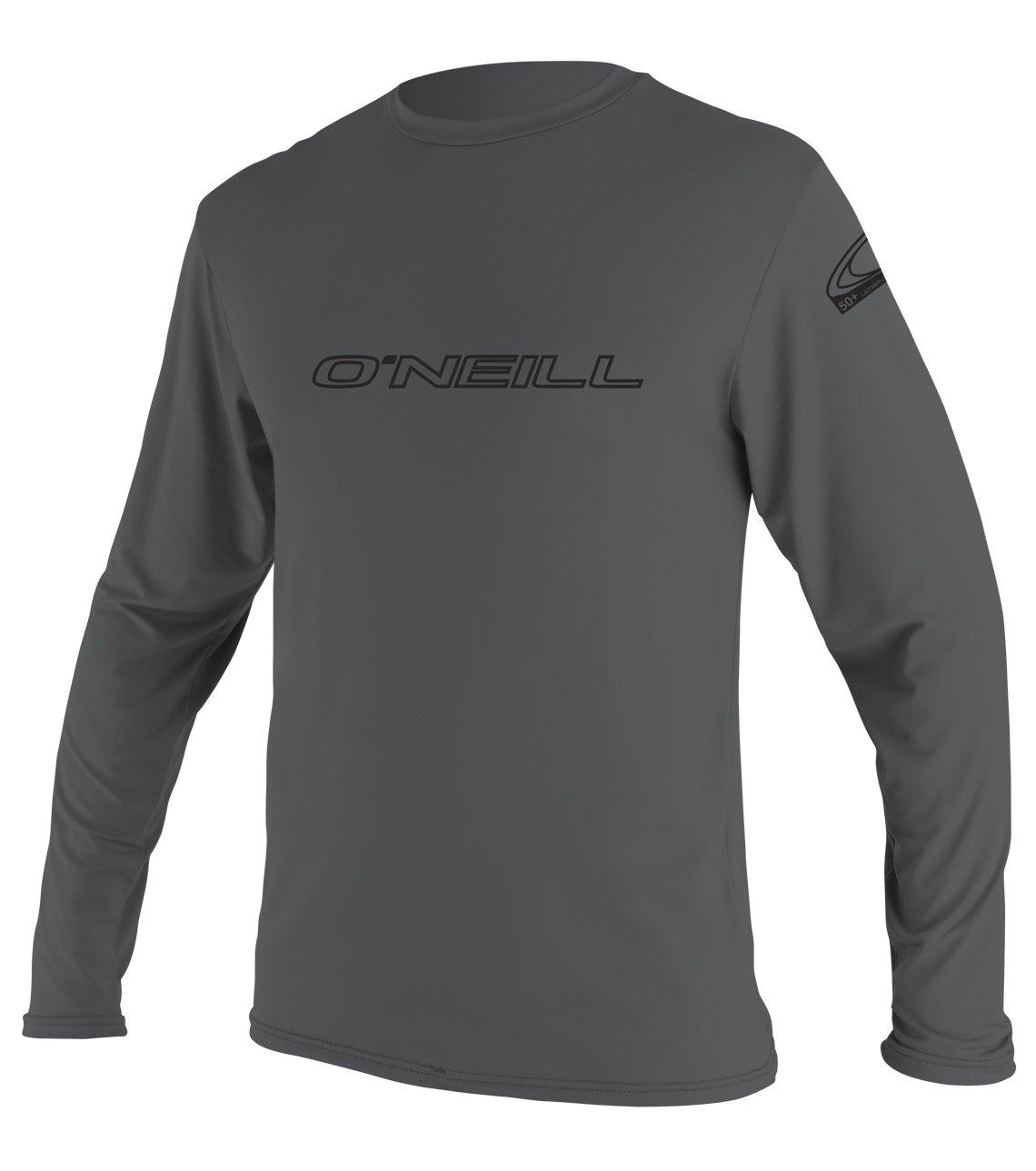 O'Neill   Men's Basic Skins UPF 50+ Long Sleeve Sun Shirt,Smoke,XX-Large by O'Neill Wetsuits