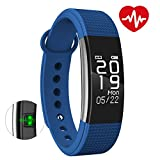 BINGO F1 Waterproof Smart Band With Heart Rate Monitoring And Many More Impressive Features With All Anroid And IOS Device (Blue)