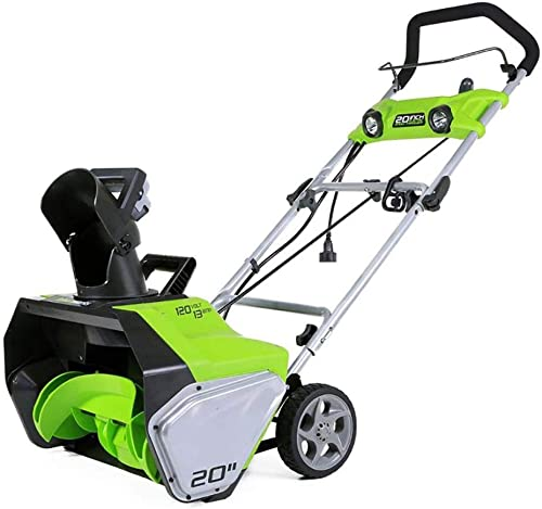Greenworks 13-Amp 20-Inch Corded Snow Thrower With Dual LED Lights 2600202