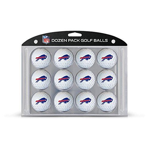 Team Golf NFL Buffalo Bills Dozen Regulation Size Golf Balls, 12 Pack, Full Color Durable Team Imprint