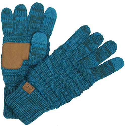 G1-6800-1146 Funky Junque CC Marled Ribbed Glove- Blue/Teal (Oversized Gloves)