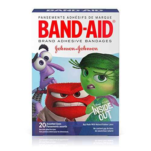 Band Aid Brand Adhesive Bandages Featuring Disney Pixar Inside Out  Assorted Sizes  20 Count