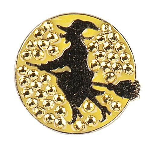 Witch Swarovski Crystal Ball Marker & Clip - HALLOWEEN GOLF! ()