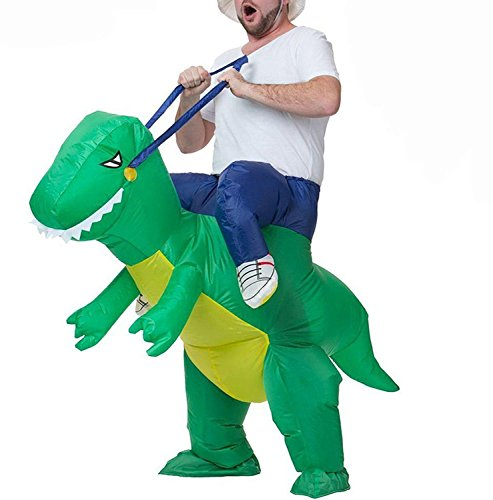 Captain America Avengers Costume Bad (T-Rex Dinosaur Inflatable Halloween Dress Party Costume Dino Rider Kid Adult (Adult))
